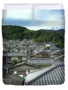 Hillside Village In Japan Duvet Cover by Daniel Hagerman