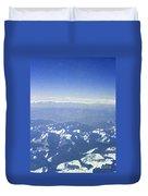 Himalayas Blue Duvet Cover