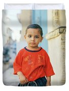 A Brahmin Boy Duvet Cover