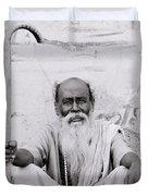 Hindu Holyman In Benares Duvet Cover