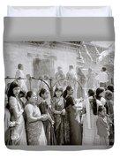 Hindu Pilgrims Duvet Cover