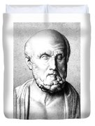 Hippocrates, Greek Physician, Father Duvet Cover