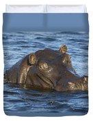 Hippopotamus Hippopotamus Amphibius Duvet Cover