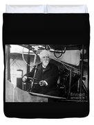 Hiram Maxim, American-anglo Inventor Duvet Cover