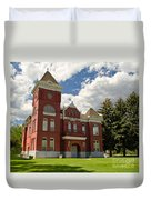 Historic Courthouse Marysvale Utah Duvet Cover
