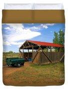Historic Fruita District Barn Duvet Cover