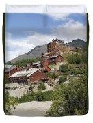 Historic Kennicott Mill Buildings Duvet Cover