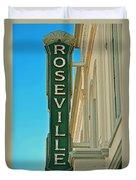 Historic Roseville California Duvet Cover