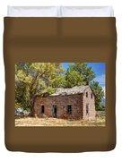 Historic Ruined Brick Building In Rural Farming Community - Utah Duvet Cover