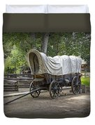 Historical Frontier Covered Wagon Duvet Cover