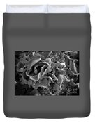 Hiv-infected T Cell, Sem Duvet Cover by Science Source