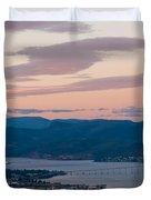 Hobart Harbour During Sunset Duvet Cover