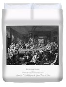 Hogarth: Election Duvet Cover