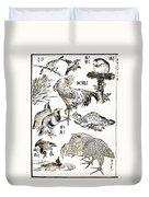 Hokusai: Birds Duvet Cover