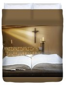Holy Bible In A Church Duvet Cover