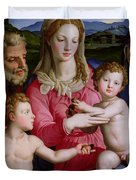Holy Family With St Anne And The Infant St John The Baptist Duvet Cover by Agnolo Bronzino