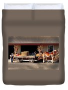 Home Delivery Family Market Duvet Cover