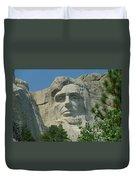 Honest Abe In Stone Duvet Cover