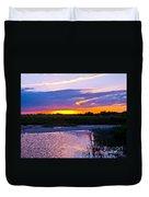 Honeymoon Island Sunset Duvet Cover