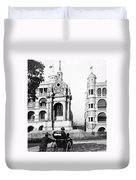 Hong Kong - Monument To Queen Victoria - C 1906 Duvet Cover
