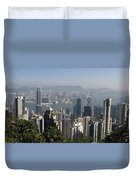 Hong Kong Cityscape Hong Kong, China Duvet Cover