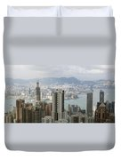 Hong Kong Harbor Duvet Cover