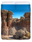 Hoodoos At Gooseberry Desert Wyoming Duvet Cover