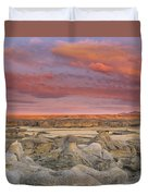 Hoodoos, Milk River Badlands, Writing Duvet Cover