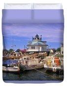 Hooper Strait Lighthouse - Fs000115 Duvet Cover