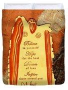 Hope 4 The Best Duvet Cover by Angela L Walker