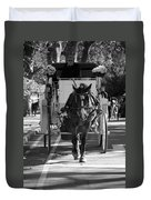 Horse And Buggy Duvet Cover