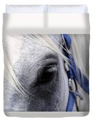 Horse At Mule Day Benson Duvet Cover