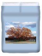 Horse Barn Hill In Autumn Duvet Cover