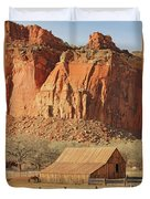 Horse Barn In Fruita Utah Duvet Cover