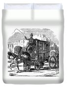 Horse Carriage, 1853 Duvet Cover