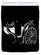 Horse Drawn Carriage Antique Duvet Cover