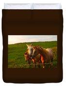 Horse Family Soft N Sweet Duvet Cover