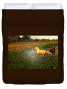 Horse Frolicking Duvet Cover