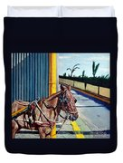 Horse In Malate Duvet Cover