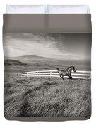 Horse In Pasture Duvet Cover