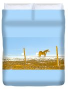 Horse Pasture Revblue Duvet Cover
