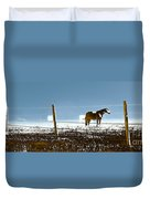 Horse Pasture Revdkblue Duvet Cover