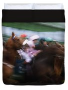 Horse Racing Horses Breaking From The Duvet Cover