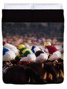 Horse Racing, Phoenix Park, Dublin Duvet Cover