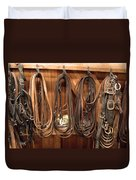 Horse Tack And Reins Duvet Cover