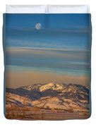 Horses And Moon Duvet Cover