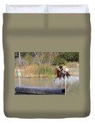 Horses Dont Like Water Duvet Cover