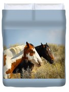 Horses In The Wild Duvet Cover