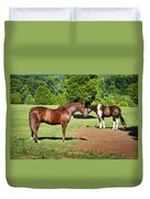 Horses Of A Different Color Duvet Cover