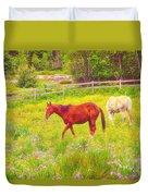 Horses Paradise Duvet Cover